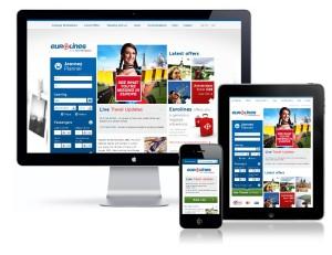 Example of responsive website design